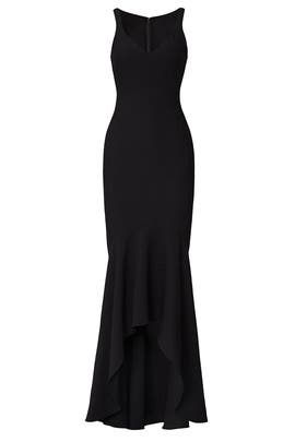 Black Sade Gown by Cinq à Sept