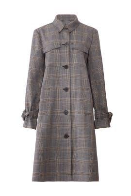 Grey Plaid Long Coat by Derek Lam 10 Crosby