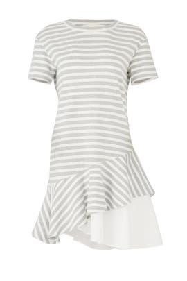 Striped Ruffle Hem Dress by KINLY