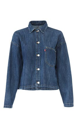 Midori Cropped Denim Shirt by Levi's