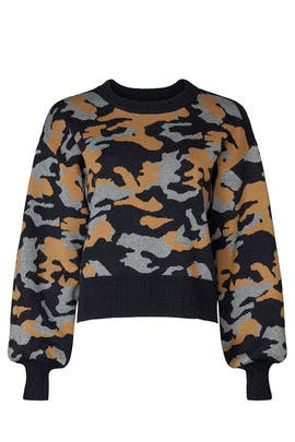 Camo Sweater by Marissa Webb Collective