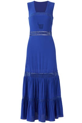 Royal Blue Malibu Crepe Dress by Nicole Miller