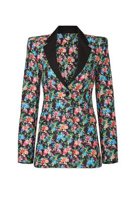 Floral Print Blazer by Paco Rabanne