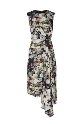 Floral Side Drape Dress by Adam Lippes Collective