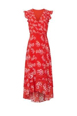 Dela Jasmine Wrap Dress by AllSaints