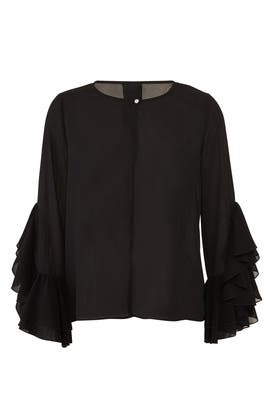 Jazz Flounce Sleeve Blouse by B Collection by Bobeau