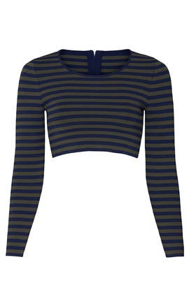 Striped Crop Top by GOOD AMERICAN