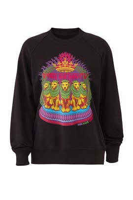 Black Lions Sweatshirt by Horn Please!