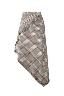 Ramsay Chevron Check Skirt by JOSEPH