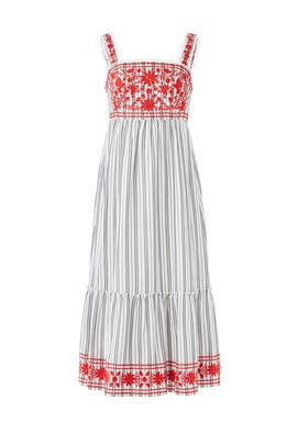 ad3047d82c91 kate spade new york. Read Reviews. Stripe Embroidered Maxi Dress