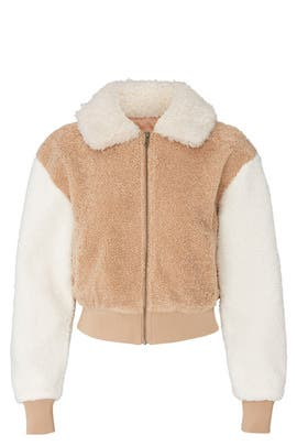 Mix Faux Fur Bomber Jacket by MINKPINK
