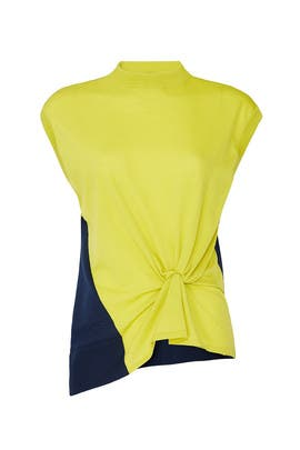 Colorblock Knot Detail Top by Nina Ricci
