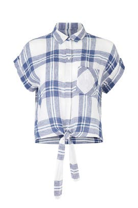 Plaid Amelie Top by Rails