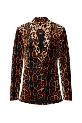 Leopard Velvet Bella Blazer by Waverly Grey