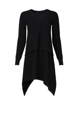 Black Asymmetrical Sweater by Derek Lam Collective