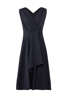 Ruffle Panel Dress by Jil Sander Navy