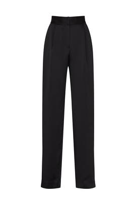 Black Satin Trousers by Jason Wu