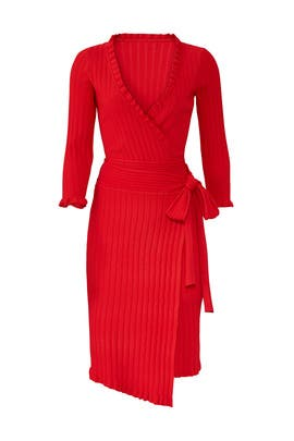 e811268a61 Ruffle-Edge Wrap Dress by Milly for  80