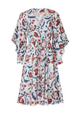 Multi Bloom Wrap Dress by Sachin & Babi