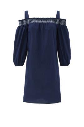 Navy Sangah Dress by Shoshanna