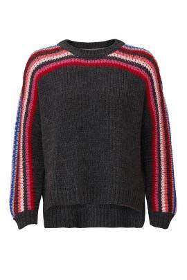 Grey Striped Sweater by XíRENA