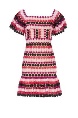 Pink Tricolor Dress by Aijek