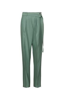 Green Wrap Pants by Helmut Lang