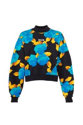 Branded Floral Sweatshirt by MSGM