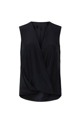 Black Sleeveless Victor Blouse by rag & bone