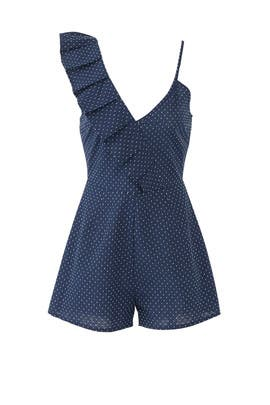 Navy Village Romper by The Fifth Label