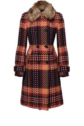 Plaid Satisfaction Coat by Trina Turk
