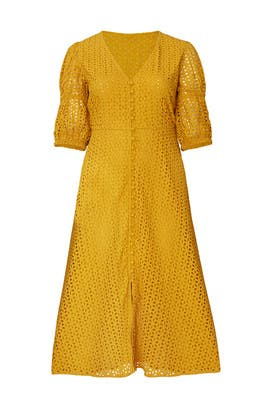 Eyelet Puff Sleeve Dress by ELOQUII