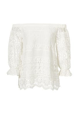 Shilla Off Shoulder Lace Top by Greylin