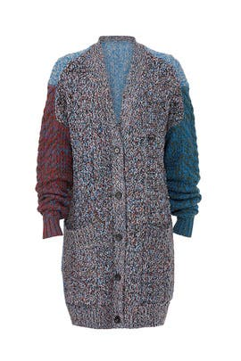 Multi Oversized Cardigan by Jil Sander Navy