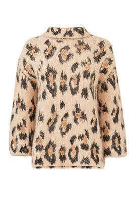 Leopard Chunky Sweater by kate spade new york