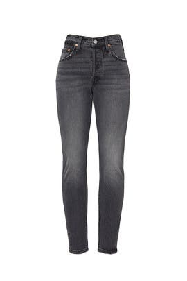 Black 501 Skinny Jeans by Levi's