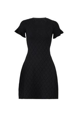 Black Geo Compact Knit Dress by Opening Ceremony