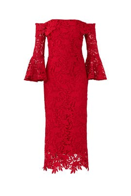 Red Harrison Dress by Shoshanna