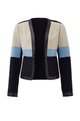 Stripe Blanket Jacket by Tory Burch