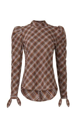 Isabel Plaid Top by Veronica Beard