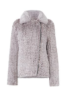 Faux Knitted Moto Jacket by Avec Les Filles