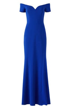 Cobalt Sweetheart Gown by Badgley Mischka