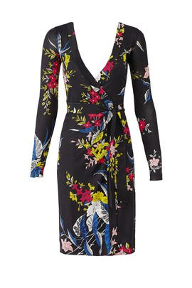 Julian Banded Wrap Dress by Diane von Furstenberg