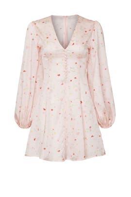 Pink Satin Mini Dress by GANNI