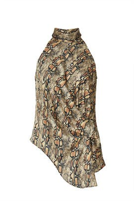 Snake Print Drape Top by Great Jones
