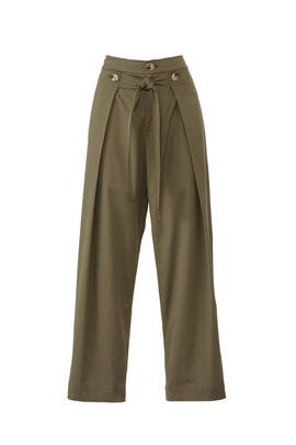 Tie Front Pleated Pants by Jason Wu