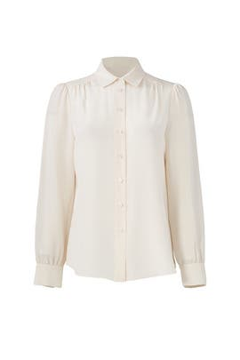 Ivory Silk Button Down by kate spade new york
