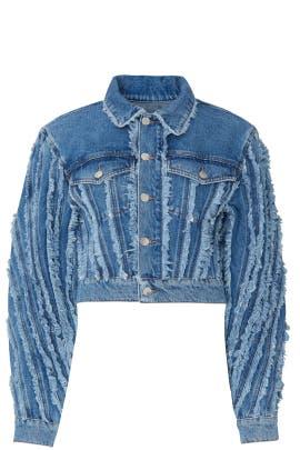 Spiral Denim Jacket by MUGLER