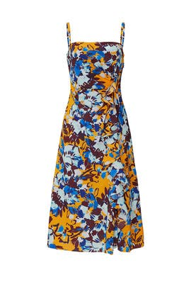 Ochre Floral Side Ruffle Dress by Prabal Gurung Collective