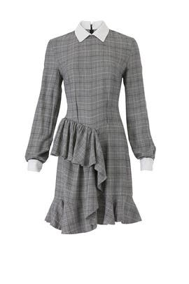 Grey Plaid Carter Dress by Petersyn